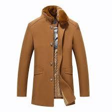 winter warm wool coat men 2018 fashion new casual slim fit fur collar wool coat men