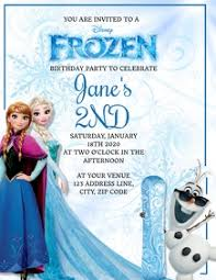 Invitation card maker is your online solution to every event. 10 900 Frozen Birthday Invitation Customizable Design Templates Postermywall