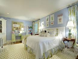 image of custom blue and white bedroom