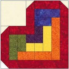Log Cabin Heart Quilt Block Pattern Download … | Pinteres… & Log Cabin Heart Quilt Block Pattern Download Mehr Adamdwight.com
