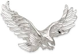 sterling silver eagle pendant qc861