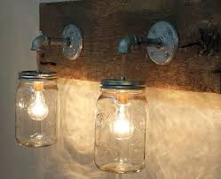Mason Jar Bathroom Accessories Pottery Barn Bathroom Lighting Beautiful Mason Jar Light Fixture
