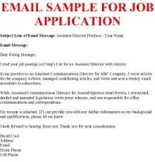 Email Sample For Job Application Business Letter Examples