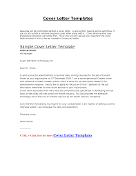 cover letter for job template word  cover letter examples
