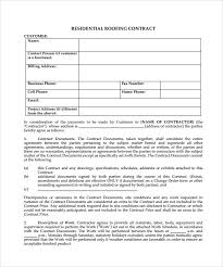 Roofing Contract Template Free Roofing Contracts Forms Rome Fontanacountryinn Com