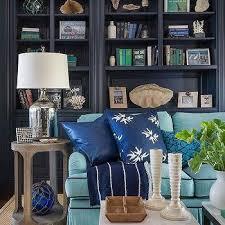 navy den built in shelves