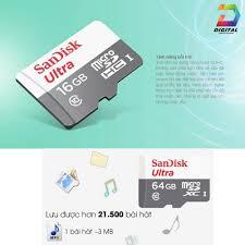 Mã ELFLASH5 giảm 20K đơn 50K] Thẻ Nhớ Micro SD Sandisk 16GB 80mb/s Chính  Hãng Bảo Hành 5 Năm - Thẻ nhớ máy ảnh