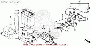 honda ft500 ascot 1983 d usa battery c d i unit schematic battery c d i unit schematic