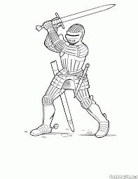 Disegni Da Colorare Cavaliere Con Una Spada A Due Mani