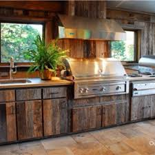 Outdoor Kitchen Wood Cabinets Photo   3