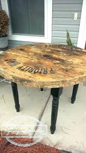 wood spool table spool table wooden spool table cable made with four turned legs crafts that wood spool