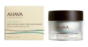 com ahava time to smooth age control even tone moisturizer  com ahava time to smooth age control even tone moisturizer broad spectrum spf 20 1 7 fl oz luxury beauty