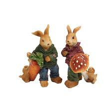 Rabbit Decorative Accessories EC DAILY Home accessories resin crafts European style garden 48