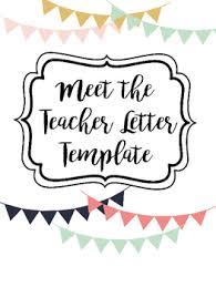 Letter Templates For Teachers Student Teacher Letter Template Worksheets Teaching