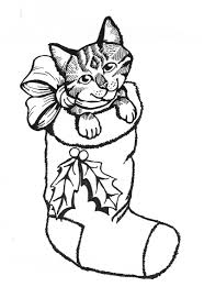 Small Picture Christmas Coloring Pages With Kittens Coloring Pages