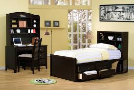 dark wood modern bedroom furniture with neutral wall paint colors for teenage girl room ideas