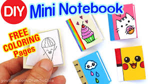 How To Make A Mini Notebook Easy Cute Diy Craft