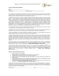 Personal Training Contract Agreement It Resume Cover Letter Sample