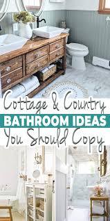 pretty cottage country bathroom ideas
