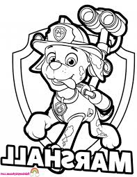 Paw Patrol Coloring 7sl6 Marshall Coloring Pages For Paw Patrol