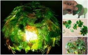 how to diy plastic bottle leaf chandelier
