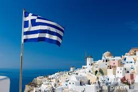 Fototapete Griechische Flagge • Pixers® - Wir leben, um zu verändern