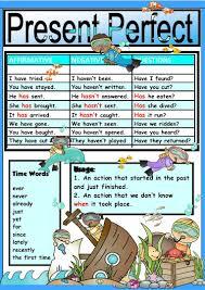 Chart Perfect Chart Present Perfect Tense English Esl Worksheets