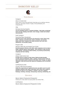caregiver resume samples   visualcv resume samples databasecaregiver resume samples