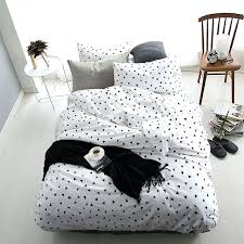 brilliant black white bed set promotion for promotional in and duvet covers queen striped quilt