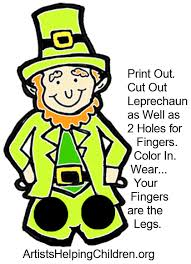 template of a leprechaun how to make a leprechaun finger puppet for st patricks day kids