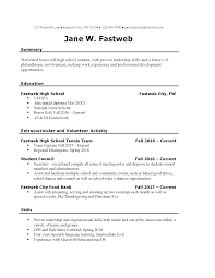 Job Resume For High School Students Free Elegant Template Stu