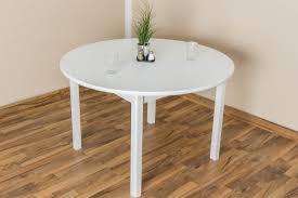 Tisch Kiefer Massiv Vollholz Weiß Lackiert Junco 235b Rund Durchmesser 120 Cm