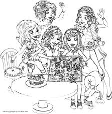 Small Picture Coloring pages of Lego Friends