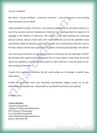 Application Letter Sample For Teaching Chemistry Teacher Cover