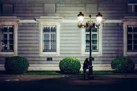 lighting a house. Person Light Girl Road Street Night House Window Home Alone Lady Lonely Lighting Urban A
