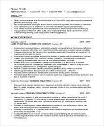 Business Resumes Template Beauteous Sample Senior Business Analyst Resume Business Analyst Resume
