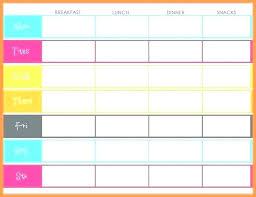 Online Weekly Planner Template