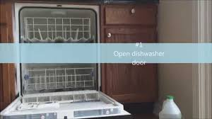 cleaning a dishwasher with vinegar