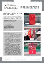Fire Equipment Cabinet Fire Hydrants Rolec Services Pdf Catalogues Documentation