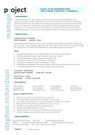 Manager Resume Templates Simple It Project Manager Resume Template Best Templates Cv Pdf