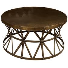 amazing round industrial coffee table with decoration regarding metal idea 5