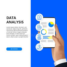 Mobile App Data Analysis From Chart Graph Statistic For