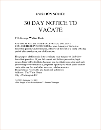 eviction notice sample customizable form templates sample letter 30 day notice to vacate