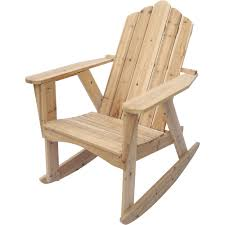 Stonegate Designs Wooden Adirondack Rocking Chair Unfinished www