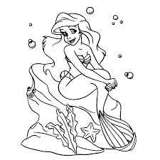 Ariel De Kleine Zeemeermin Kleurplaten Kleurplatenpaginanl
