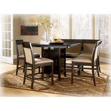 counter height pedestal table d569 13 ashley furniture emory dining room