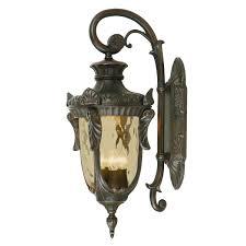 Antique Lighting Fixtures Philadelphia Philadelphia 3 Light Large Down Wall Lantern Old Bronze