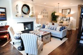 super cute nautical living room dining room bo i love the old chest as a coffee table