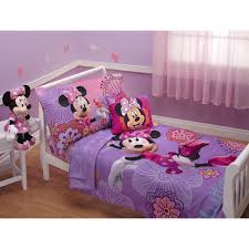 Minnie Mouse Stuff For Bedroom Disney Minnie Mouse 4 Piece Toddler Bedding Set Pink And Purple