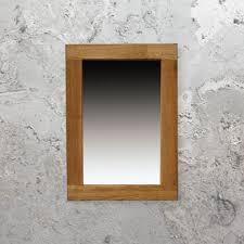 large oak framed mirror wood wall mirror large wood framed mirror
